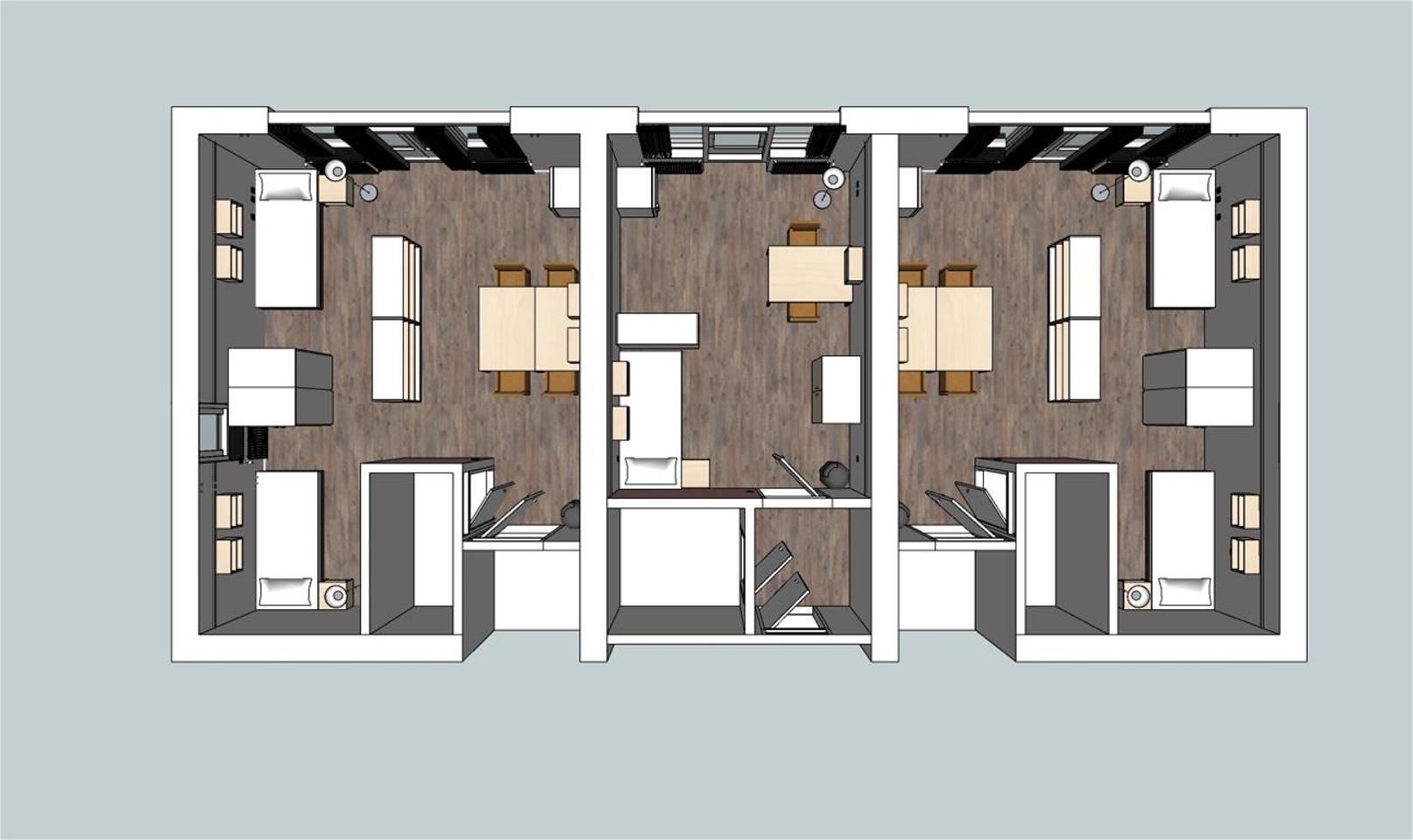 tekening 1 - indeling kamer
