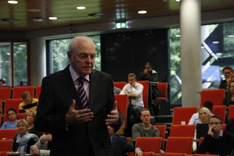 Keynote speaker Mervyn E King