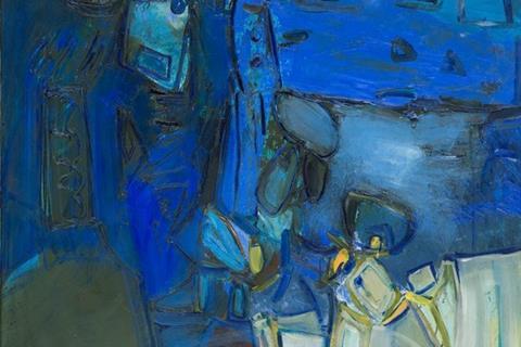 Roelof Frankot - Simultaan, olieverf op doek, 90 x 110 cm